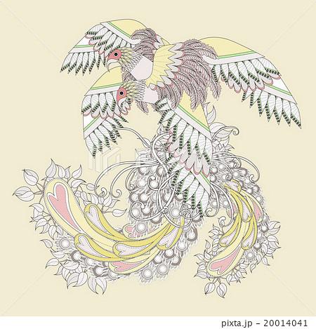 鳥 細密 詳しいのイラスト素材 20014041 Pixta