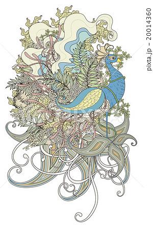 鳥 細密 詳しいのイラスト素材 20014360 Pixta