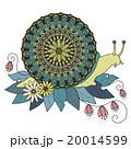 アート イラスト かたつむりのイラスト 20014599