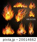 ほのお 炎 ベクトルのイラスト 20014662