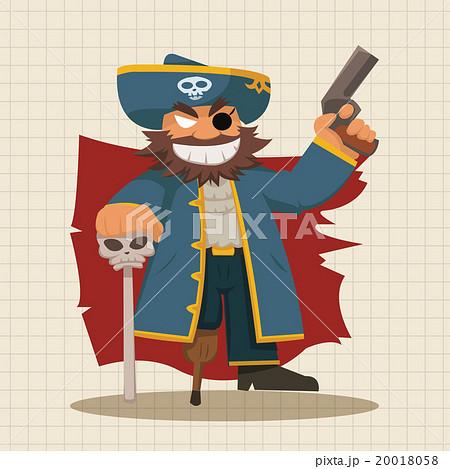 海賊 パイレーツ どくろのイラスト素材 20018058 Pixta