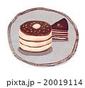 ホットケーキ パンケーキ 洋菓子のイラスト 20019114