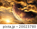 Sunset in storm sky and alien planet 20023780