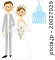 結婚式 教会 ウェディングドレスのイラスト 20027029