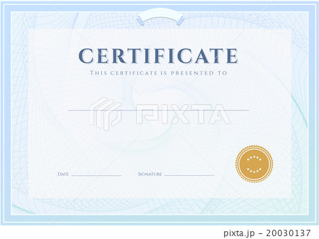 Certificate, Diploma of completion design templateのイラスト素材 [20030137] - PIXTA