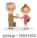 握手をするビジネスマン(シニア男性と若い女性) 20031832