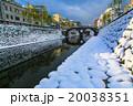 眼鏡橋の雪景色 20038351