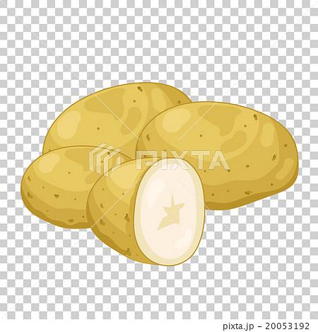 Potatoes isolated, organic food, farm food. 20053192
