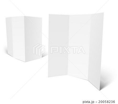 Blank white booklet vector templateのイラスト素材 [20058236] - PIXTA