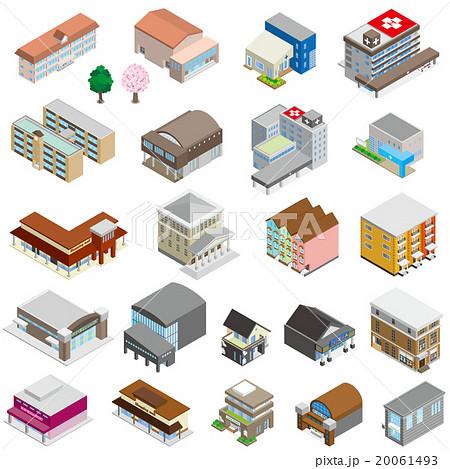 様々な建物 / 立体図 20061493