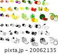 いろいろな果物のアイコン 20062135