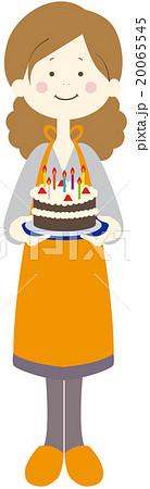 ケーキを焼く女性 20065545