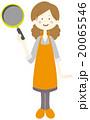 フライパンを持つ女性 20065546