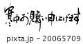 筆文字 寒中お見舞い申し上げます(横書き).n 20065709