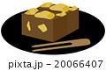 和菓子 栗蒸し羊羹 羊羹のイラスト 20066407