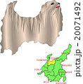 地図の動物 中部 富山 犬 20071492