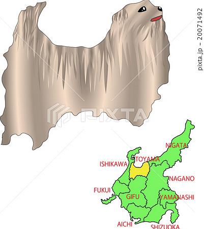 地図の動物 中部 富山 犬のイラスト素材 20071492 Pixta