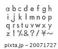 アルファベット 英字 小文字のイラスト 20071727