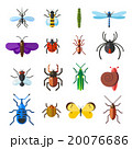 Insect icon flat set isolated on white background 20076686