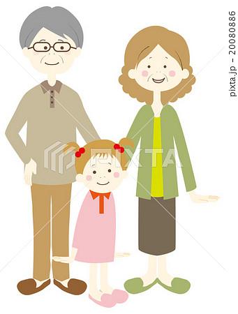 孫と祖父母 20080886