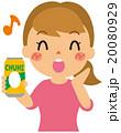 缶チューハイ 飲み会 女性のイラスト 20080929