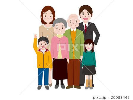 三世代家族イラスト 20083445