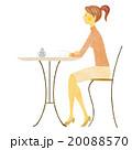 コーヒー 人物 カフェのイラスト 20088570