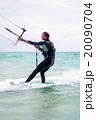 Kitesurfer in Black Sea, Crimea 20090704