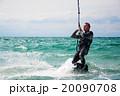 Kitesurfer in Black Sea, Crimea 20090708