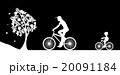 Bikers and the tree. Illustration vector. 20091184