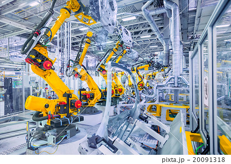 robots in a car plant 20091318