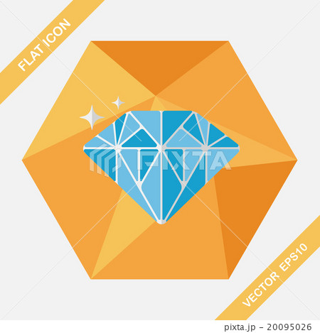 Propose diamond flat icon with long shadow,eps10 20095026