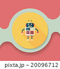 robot concept flat icon with long shadow,eps10 20096712