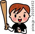 野球 笑顔 イラストのイラスト 20105452