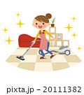 掃除機をする主婦 20111382