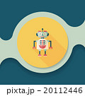 robot concept flat icon with long shadow,eps10 20112446