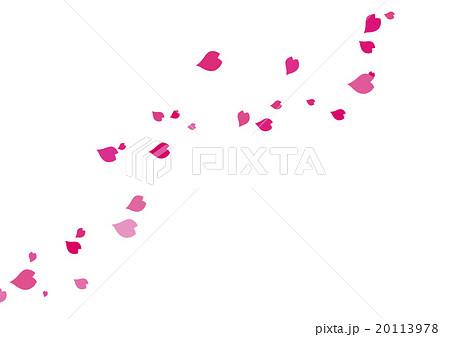 舞い散るサクラの花びらのイラスト素材 20113978 Pixta