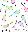 スカッシュラケットとボールのシームレスパターン 20116297