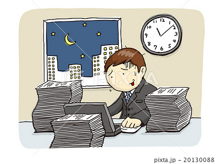 「深夜残業」のイメージイラスト 20130088
