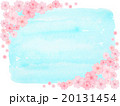 さくら 桜 青空 ソメイヨシノ 花見日和 コピースペース 空色 かわいい 額縁 イラスト 背景 和 20131454