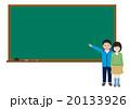 小学校の黒板、コピースペース有り 20133926