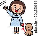 子供 散歩 犬のイラスト 20133944