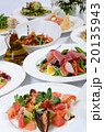 The buffet in the restaurant with different meals 20135943