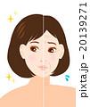 女性 シワ イラスト 20139271