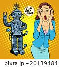 Science fiction horror robot woman panic 20139484