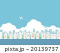 都市風景 雲 飛行機 20139737