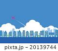 都市風景 雲 飛行機 20139744