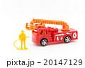 おもちゃの消防車と消防隊員: Toy Fire Truck and Firefighter 20147129