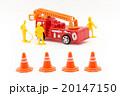 おもちゃの消防車と消防隊員: Toy Fire Truck & Firefighter 20147150