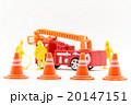 おもちゃの消防車と消防隊員: Toy Fire Truck & Firefighter 20147151